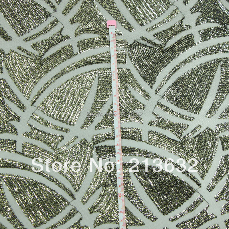 D po77 Kind of polyester fabric is half arc bead piece of cloth embroidered embroidered cloth textile manufacturers selling(China (Mainland))