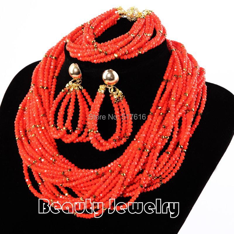 Red Color Braid Choker Necklace Wedding Jewelry SetsTrendy Women Jewelry set <br><br>Aliexpress