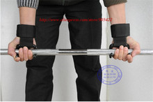 20pair/lot Free Shipping Weight Lifting Gloves Chin Up Palm Supporters Grip Barbell Pads Bar Straps with Wrist Support BN016
