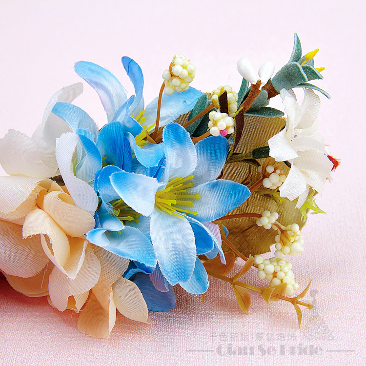 Girl hair artificial flower hair ornaments hairpins hairgrips photography props hair clips party tiara marriage accessories guxu