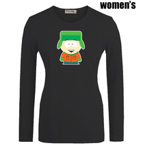 Cute Cartoon South Park Kyle Broflovski Printed T-Shirt Newest Casual Long Sleeve High-quality Women's Girl's Graphic Tee Tops(China (Mainland))