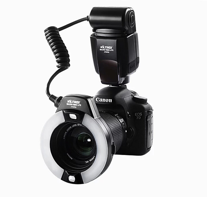 Viltrox JY-670C Macro TTL Ring Flash Speedlite Light for Canon 1200D 700D 650D 600D 70D 60D 5DII III 7D DSLR(China (Mainland))