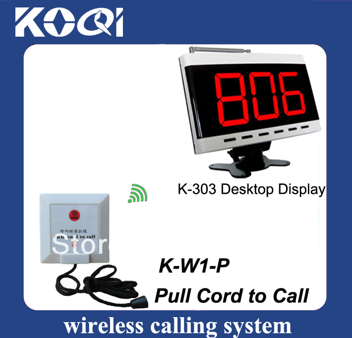 Elderly emergency calling system K-303+W1-P elderly call button pull cord to call DHL free shipping free(China (Mainland))