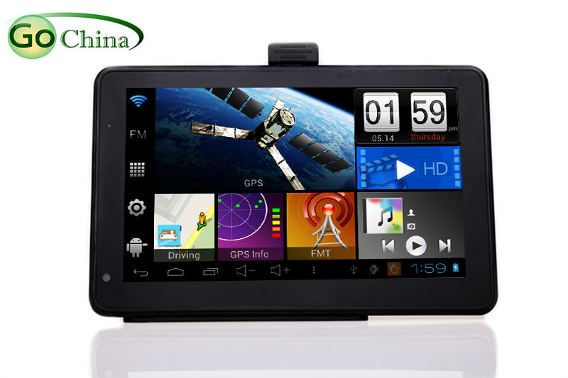 7 inch Capacitive Android GPS Dual camera,support DVR, WIFI,AV-IN ,android Allwinner 512M,8G,FM transmitter preinstall free maps(China (Mainland))