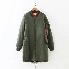 Winter Coat Collar Arm Red Letter Webbing Cotton Clothing Women's Cotton-padded clothes Long Padded Loose Parkas 9304(China (Mainland))