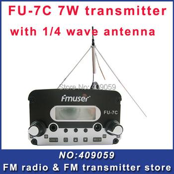 FU-7C 7w broadcast fm radio transmitter Black fm radio transmitter+GP fm broadcast antenna FREE Shipping by EMS/DHL/FEDEX
