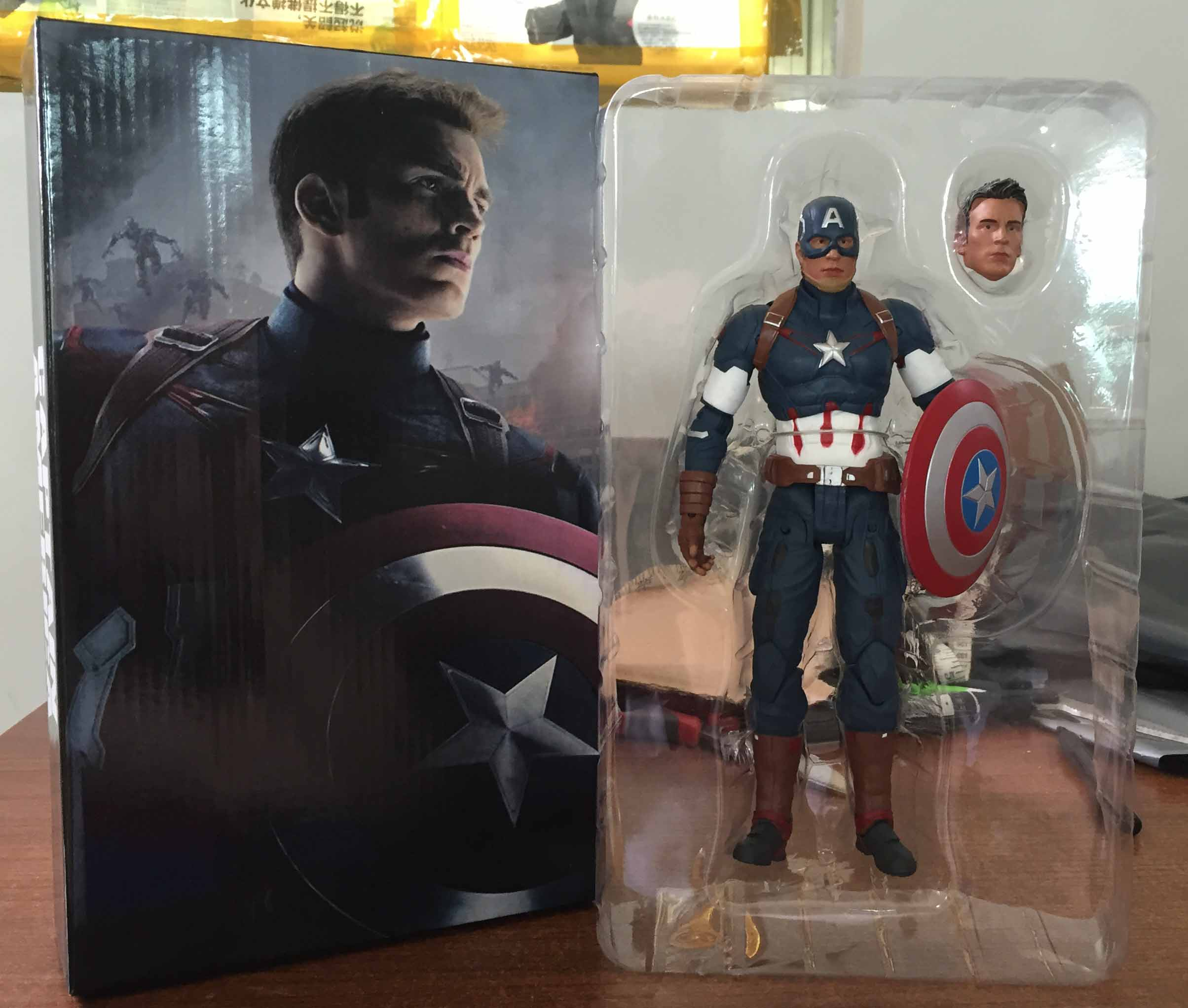 Avengers Age of Ultron Captain America PVC Action Figure Collectible Model Toy 9 23cm