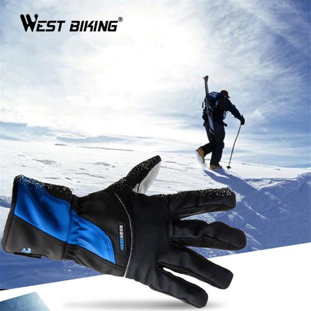 Зимние Виды Спорта Перчатки Guantes Зима Guantes Лыжный Утепление Флис Ветрозащитный Водонепроницаемый Лыжи Сноуборд Лыжные Перчатки Мужчин