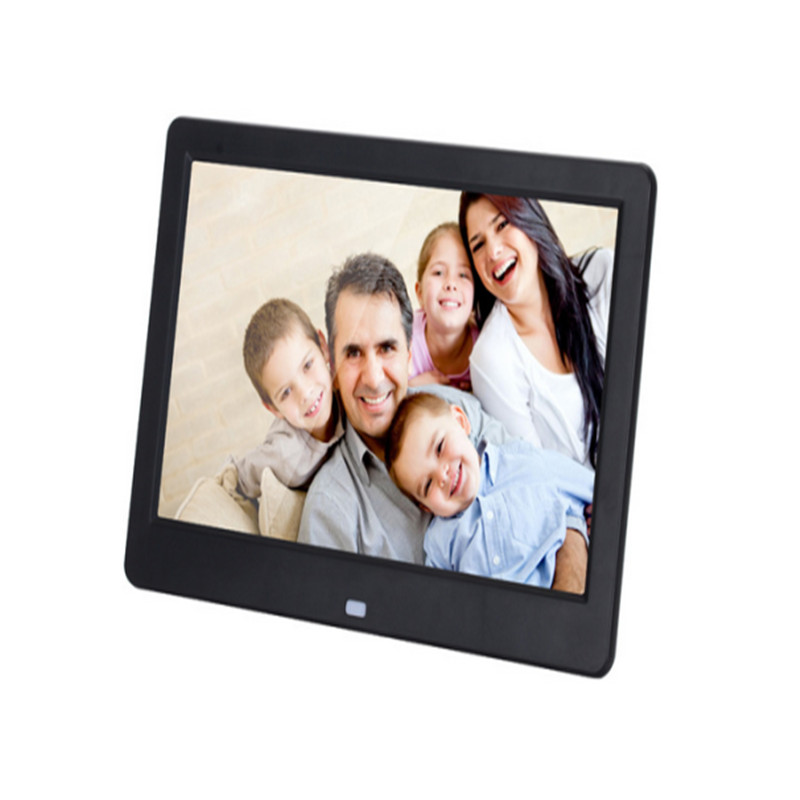 New Hot 10-inch high-definition screen digital photo frame slim narrow advertising video player pictures photos clock/calendar(China (Mainland))