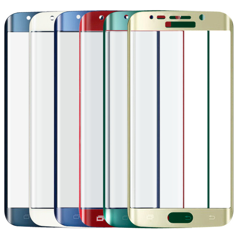 3D Curved Full Cover Premium Tempered Glass Screen Protector For Samsung Galaxy S6 Edge S6edge Green Blue Gold Red()