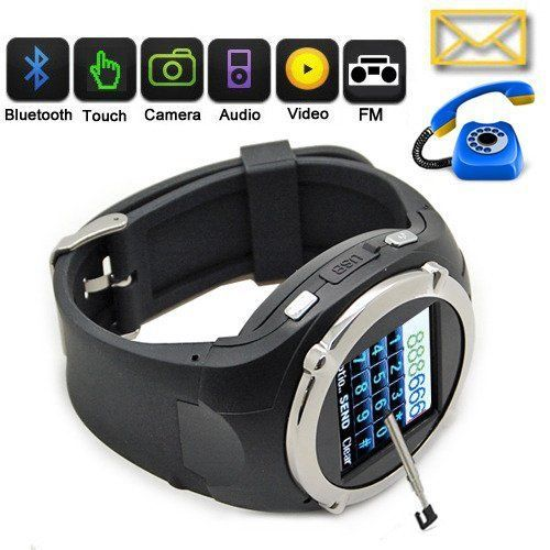 """1.5"""" Touch Screen Waterproof Smart Phone Watch Camera Bluetooth MP3/MP4 FM radio 3 Color With Free Gift Headsets(China (Mainland))"""