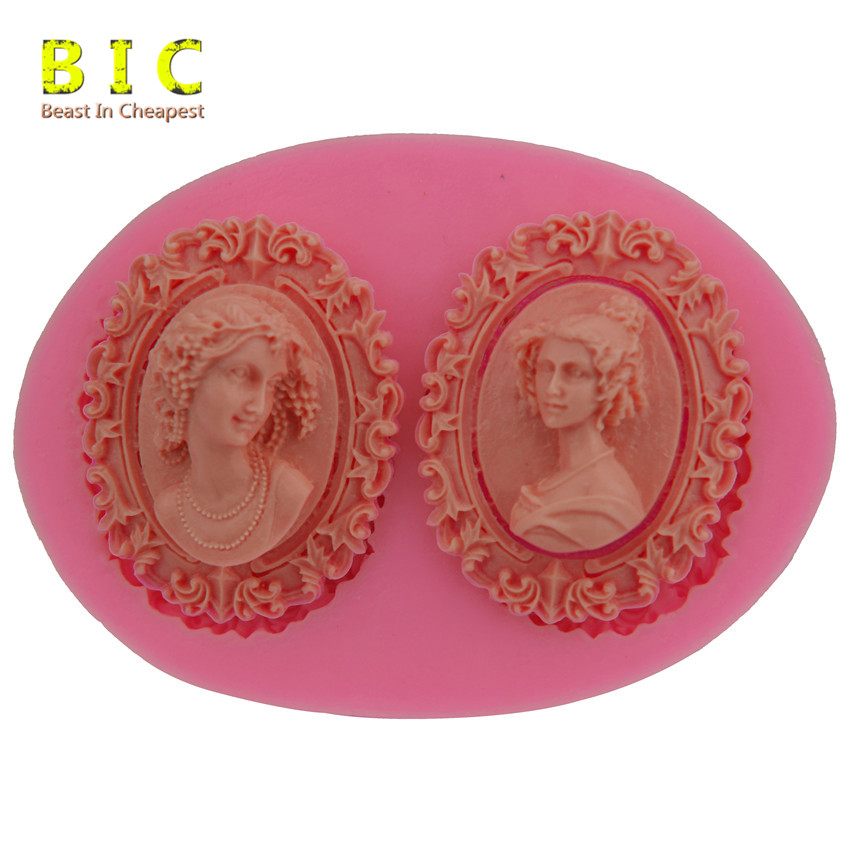 Classical Female Portrait DIY Silicone Cake Mold Bakeware Cooking Tools Candy Jelly Cake Decorating Mould H2193(China (Mainland))