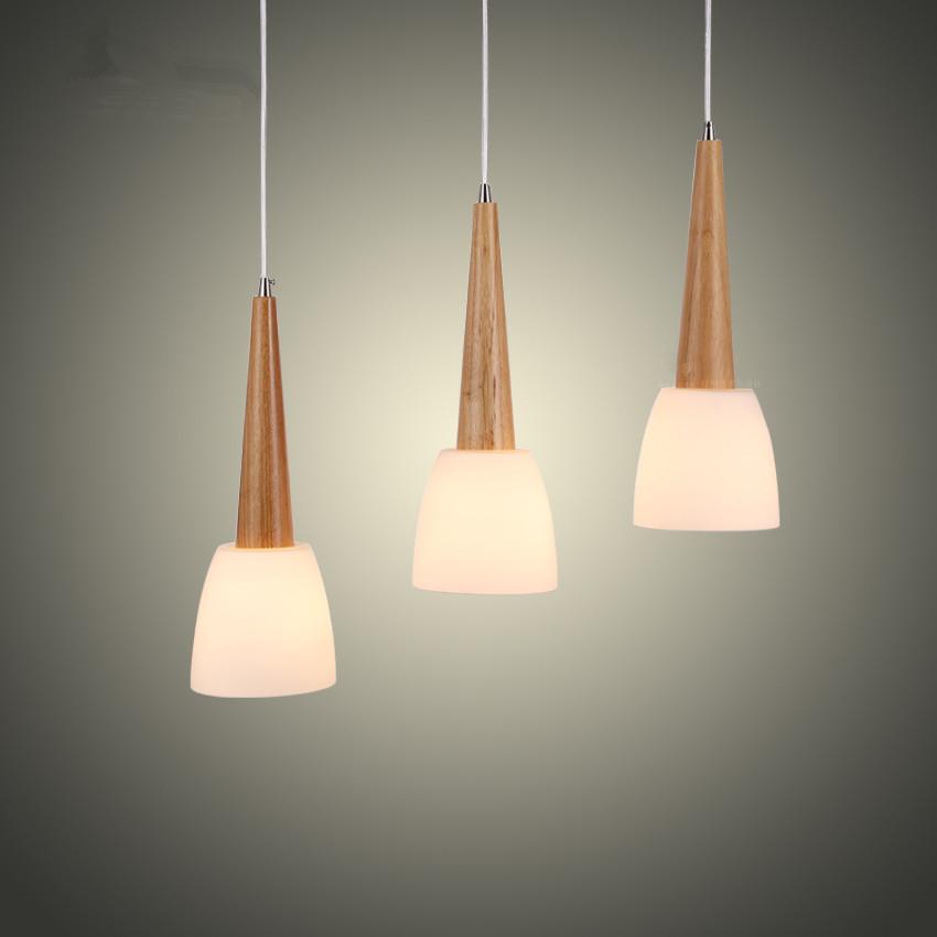 Legno moderno in vetro lampade a sospensione cucina for Lampada ristorante
