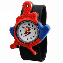 7 colors New Hot selling Electronic Children Digital Silicone quartz spider man Cartoon lovely Watch with