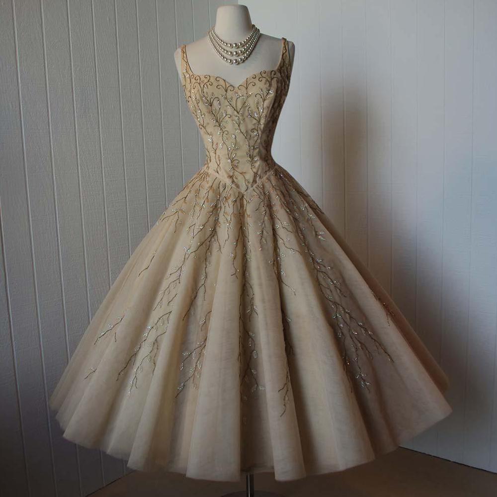 Stil der 1950er Jahre Hochzeitskleid