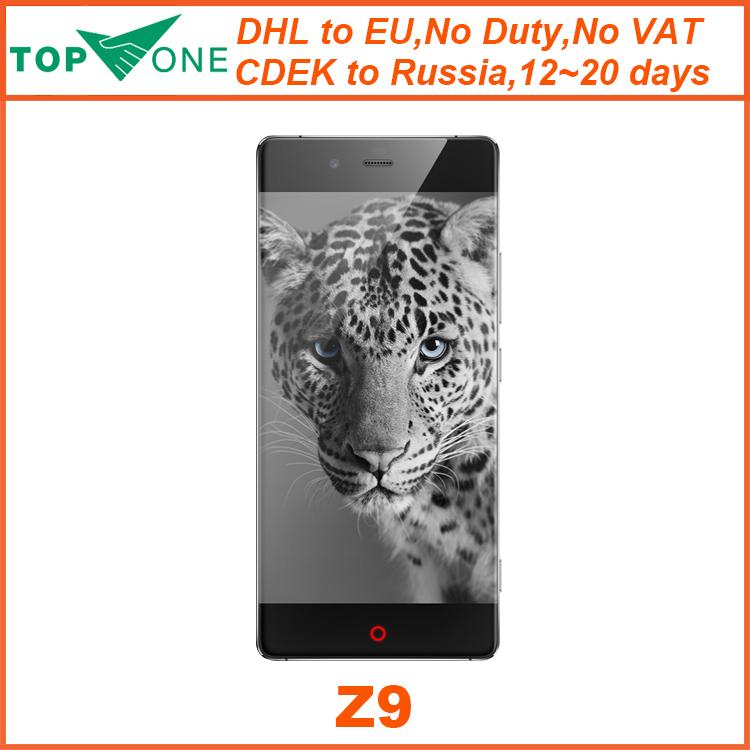 Original ZTE Nubia Z9 4G LTE Mobile Phone 5.2 FHD Dual Sim Qualcomm Sanpdragon 810 Octa Core 3GB RAM32GB ROM 16.0MP Android 5.0(China (Mainland))