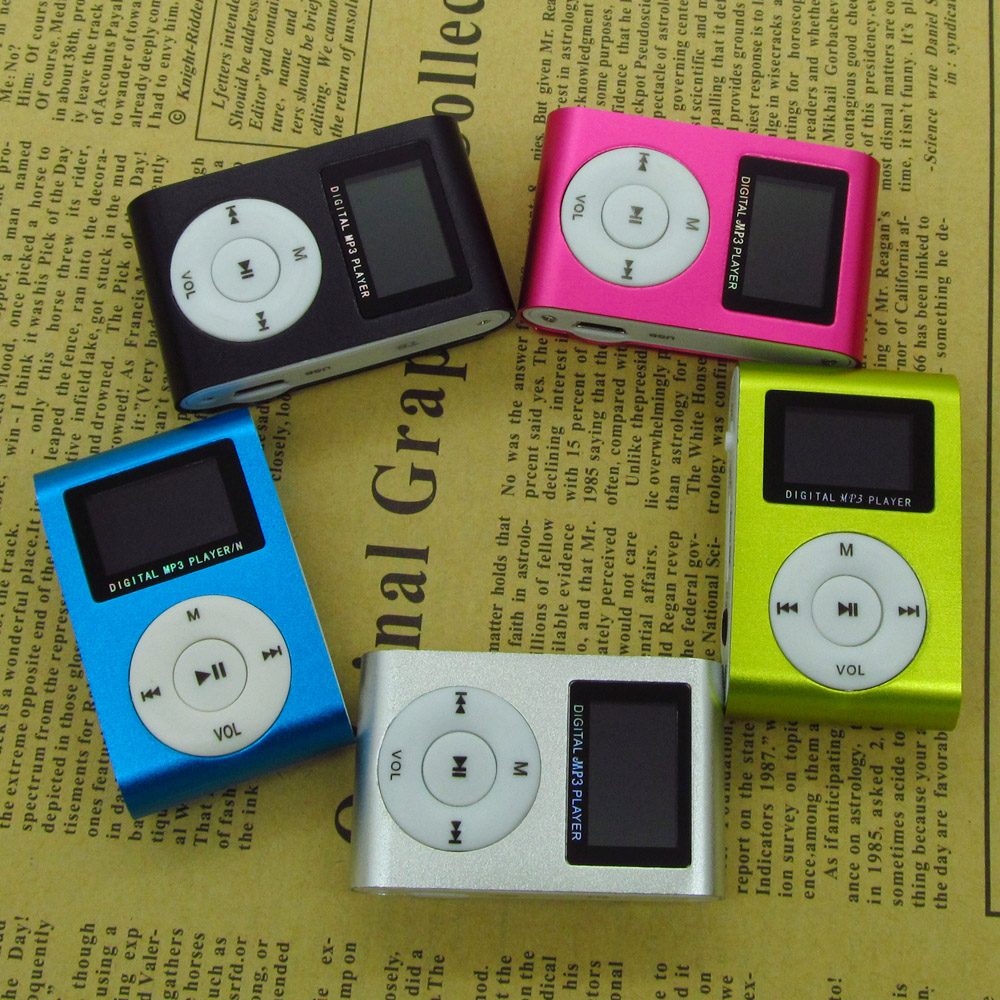 Sport Digital Clip MP3 Music Player with LCD Screen Metal Mini MP3 Player Support Micro TF/SD Card 5 Colors(China (Mainland))