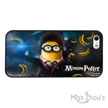 Minion Dispicable Me Harry Potter back skins mobile cellphone cases for iphone 4/4s 5/5s 5c SE 6/6s plus ipod touch 4/5/6