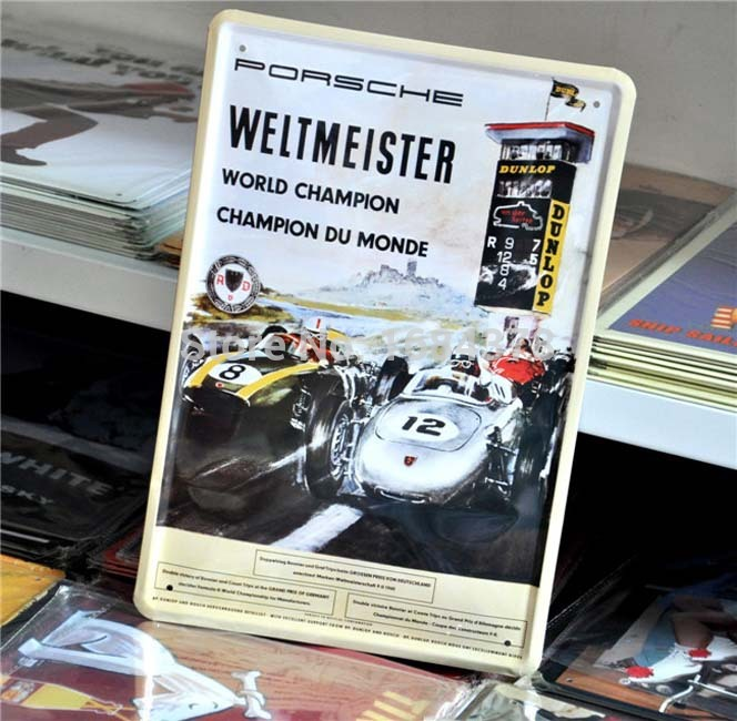 Weltmeister Dunlop Car Retro Tin Signs Metal Painting Shop Hotel kitchen Decor 20X30cm 12281 Free Shipping(China (Mainland))