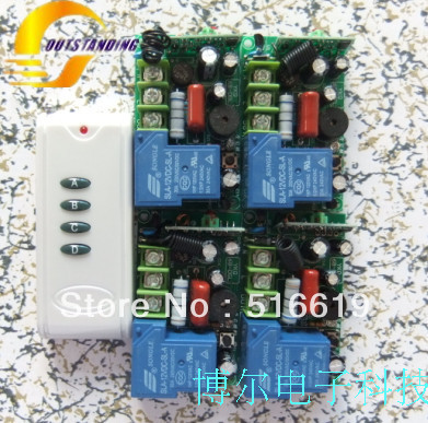 wireless remote control switch 220V Single way 30A Single way of remote control switch 315M High-power pump control(China (Mainland))