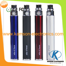 Hot eGo-C Twist Battery ego variable voltage battery 650mah 900mah 1100mah for ego electronic Cigarette Kits Various Colors