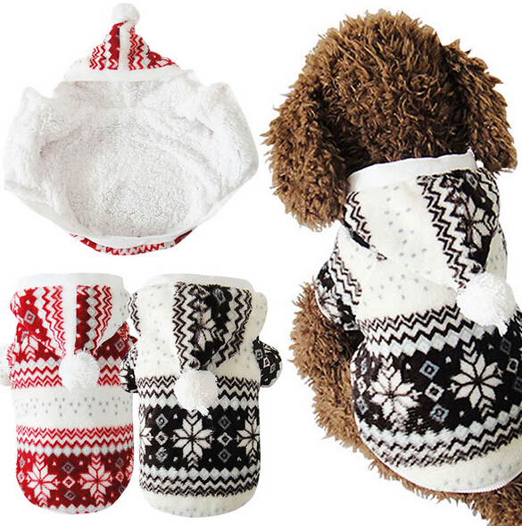 Hot Soft Winter Warm Pet Dog Clothes Cozy Snowflake Dos Costume Clothing Jacket Teddy Hoodie Coat(China (Mainland))