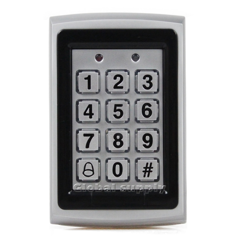 RFID Entry Metal Door Access Control System +10 ID Card Key Fobs Brand NEW(China (Mainland))