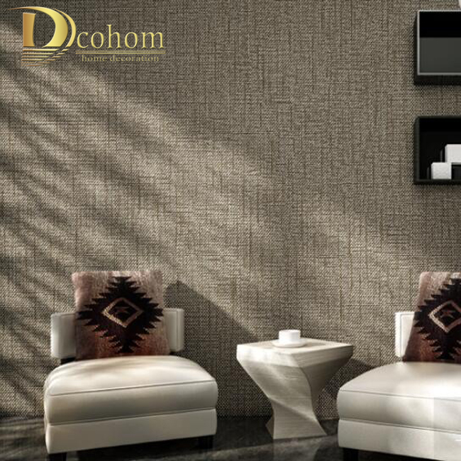 Textured modern wallpaper wall covering wall paper roll home decor - Modern Minimalist Solid Color Textured Wallpaper For Walls