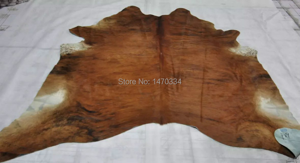 New Cowhide Rug Large Cow Hide Skin Leather Bull Carpet Animal(China (Mainland))