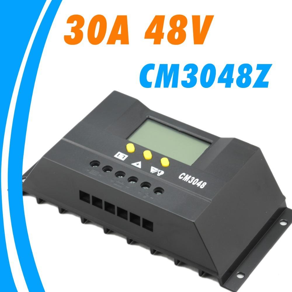 Купить Электротехническое оборудование и материалы  30A 48V Solar Controller PV panel Battery Charge Controller Solar system Home indoor use New None