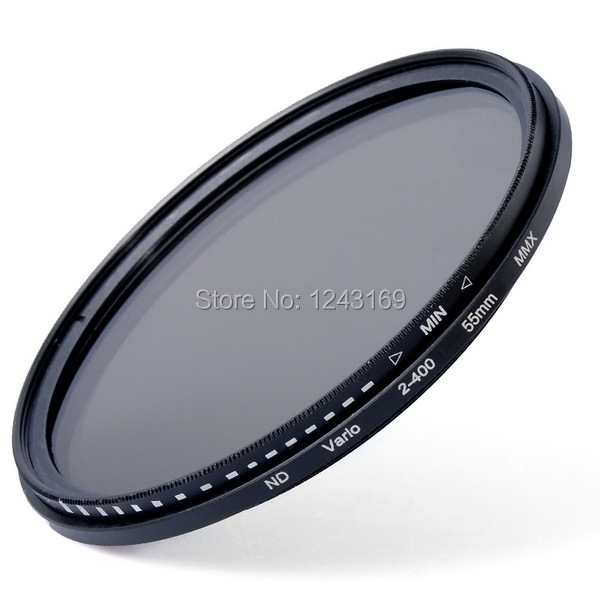 Xcsource 55mm Fader Neutral Density Adjustable Variable ND Filter ND2 to ND400 + Bag LF303(China (Mainland))