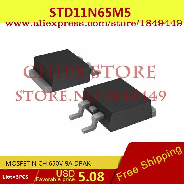 Бесплатная Доставка Diy Kit Электронные Производство STD11N65M5 MOSFET N CH 650 В 9A DPAK 11N65 STD11N65 3 ШТ.  цены