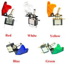 Синий / красный / зеленый / желтый / белый 12 В из светодиодов рокер тумблер SPST ON / OFF