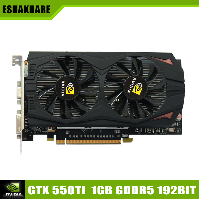 New Arrival Game Graphics Card Geforce GTX 550Ti Video Card GDDR5 1G 192Bit Place De Video Card Support PC Game Full HD 1080 P(China (Mainland))