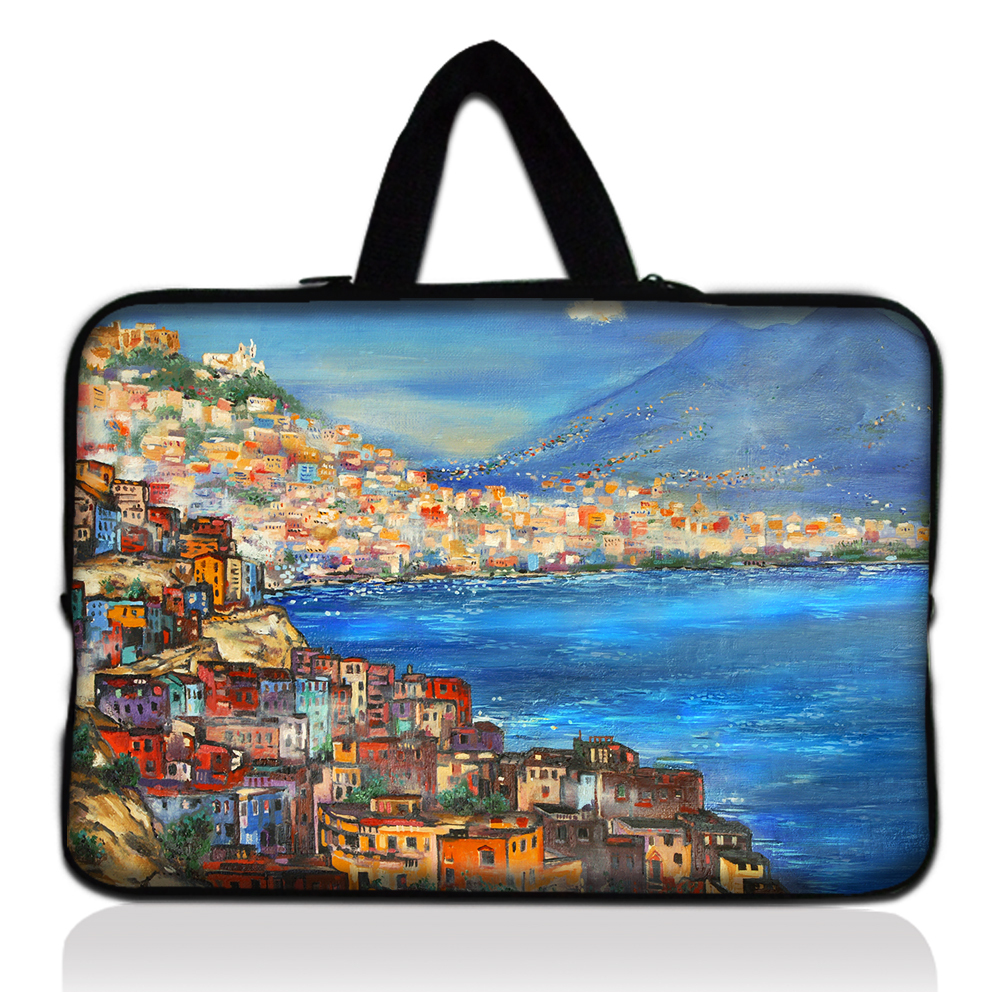 """Seaside House15"""" Laptop Computer Tablet PC Carry Sleeve Case Bag Cover+Handle For 15"""" 15.6"""" Acer/HP/Dell/ASUS/Lenovo(China (Mainland))"""