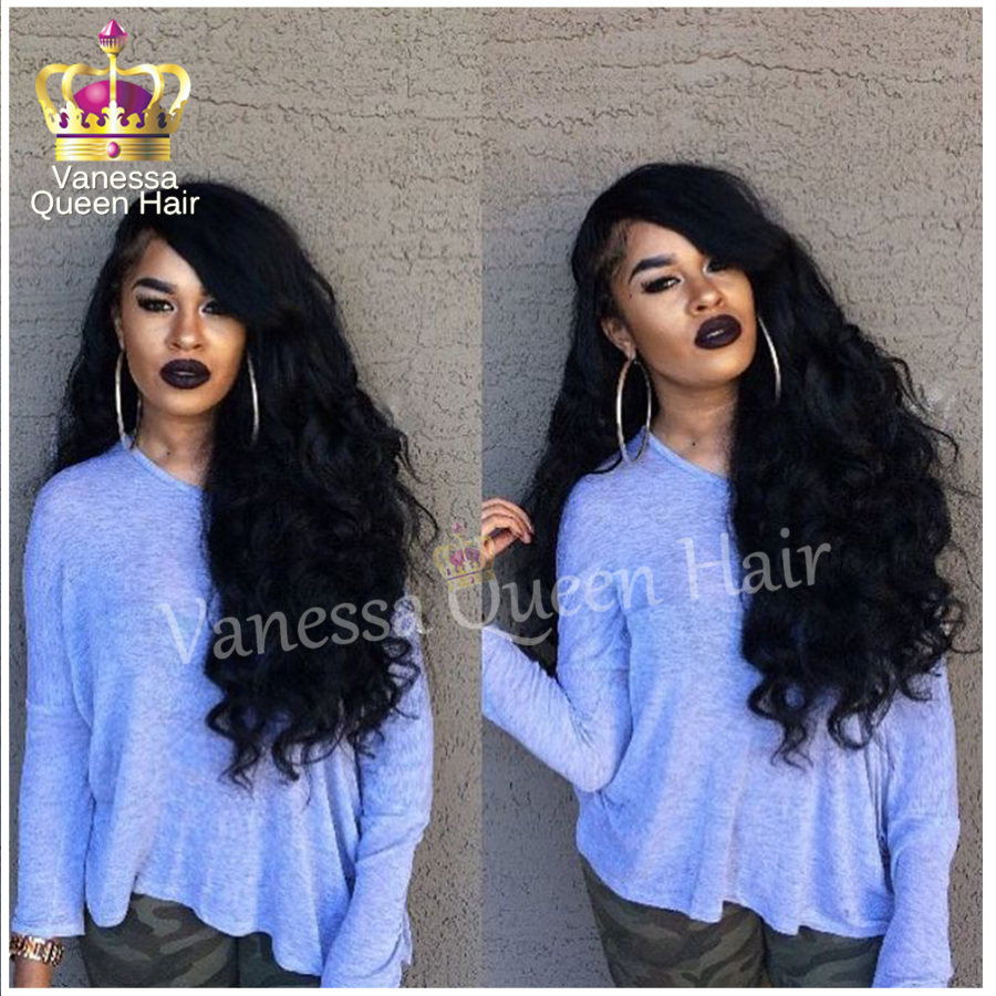 Lace front wig heat resistant synthetic lace front wig for black women cheap synthetic body wave glueless lace wig free shipping<br><br>Aliexpress