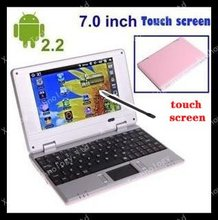 7inch android laptop,umpc,mid  touch pc 5 color aviliable dorpship welcomed keyboard +touch screen(China (Mainland))