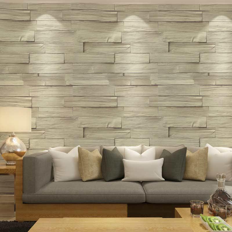 Acheter style chinois vinyle imitation bois brique tapisserie 3d pvc lavables - Tapisserie pour salon ...