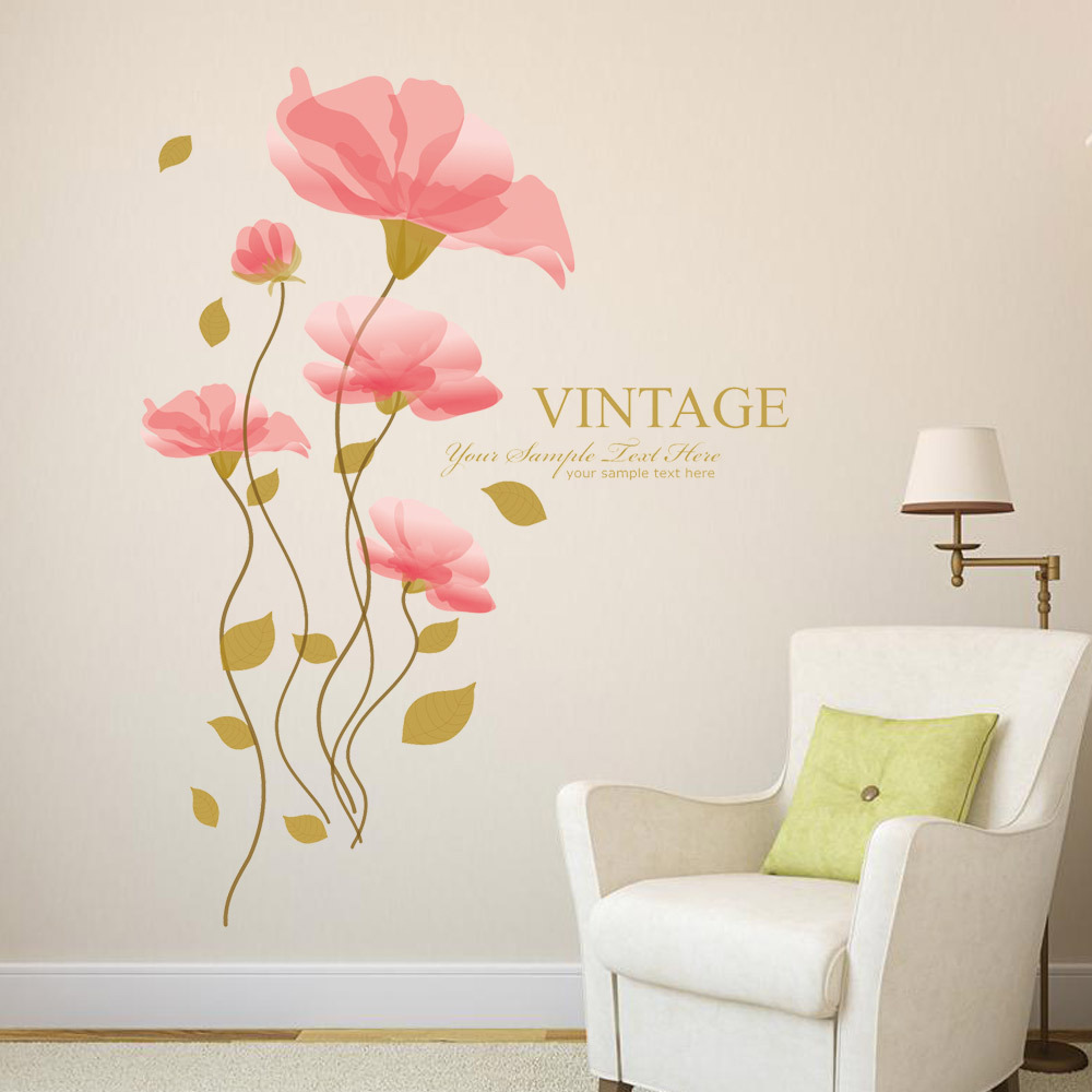 Bathroom wall decor stickers - Bathroom Retro Vintage Diy Wall Art In Wall Stickers From Home