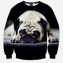 new arrive Special design sweatshirt men very cute Pug 3D printed  hoodies men and women can wear jogger sportswear  XS6(China (Mainland))