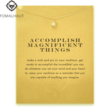 Buy Accomplish magnificent things starburst Pendant necklace Clavicle Chains Statement Necklace Women FOMALHAUT Jewelry for $1.09 in AliExpress store