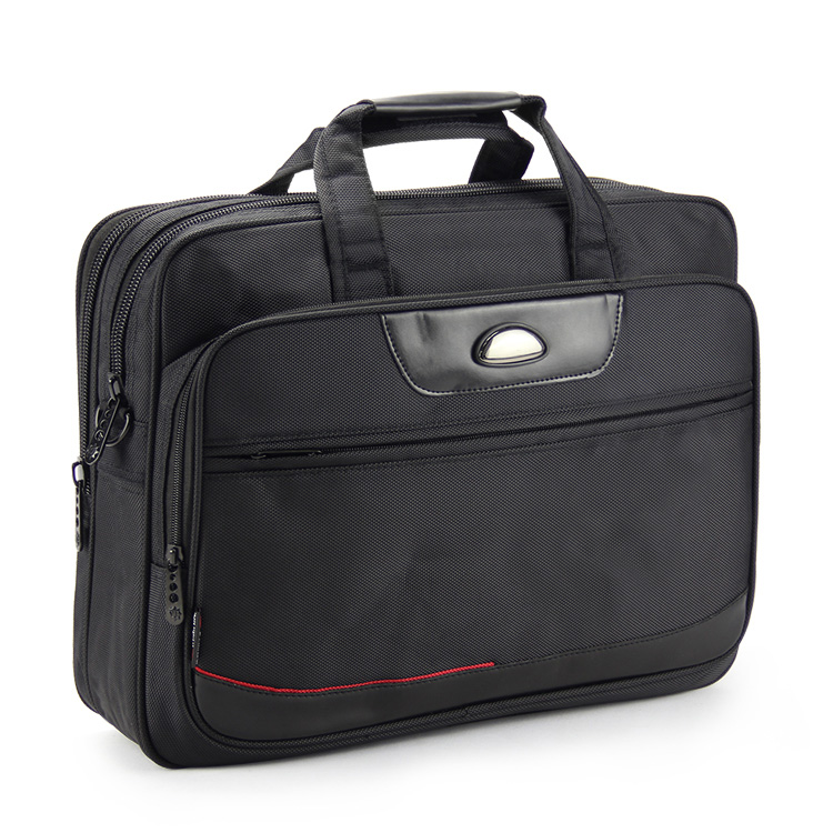 "Big capacity 16"" inch polyester computer laptop notebook tablet PC bag briefcase business travel handbag portfolio messenger bag(China (Mainland))"