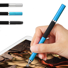 2 in 1 Mini Metal Fine Point Round Thin Tip Capacitive Stylus Pen For iPad 2/3/4/5/air/mini For Amazon Tablet(China (Mainland))