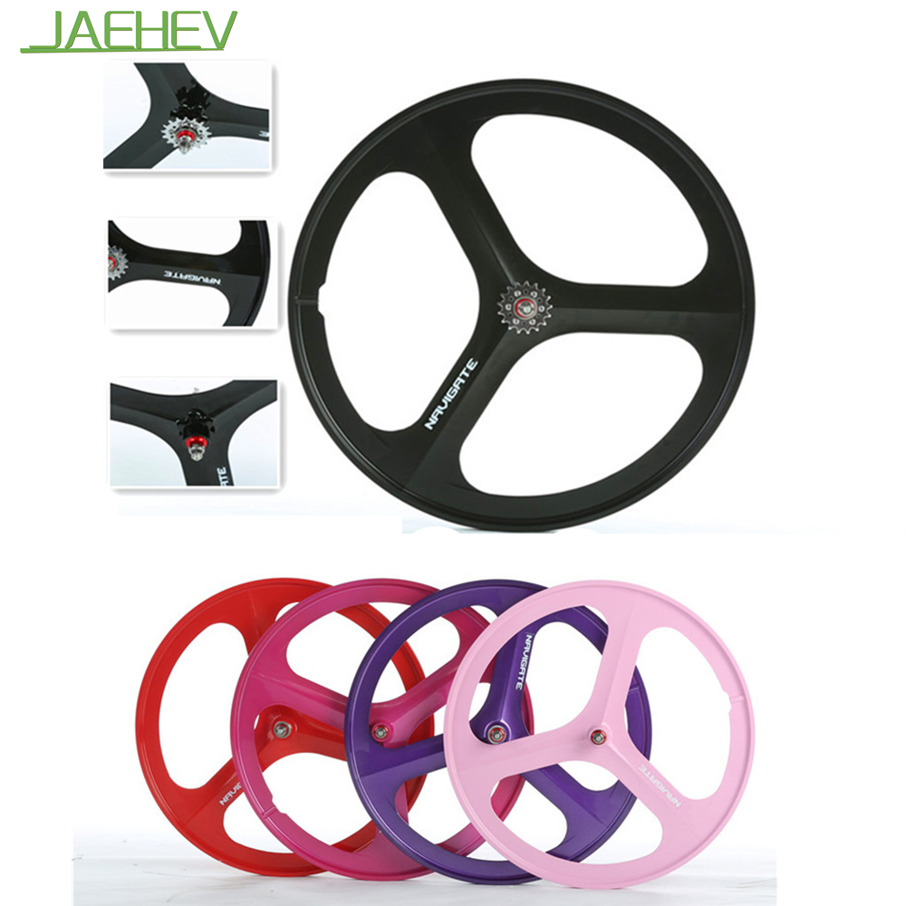 Fixed Gear 700C Carbon Track Bike Wheels 3 Spoke Carbon Wheel China Hot Sale Cool Multi Colors for Choose(China (Mainland))