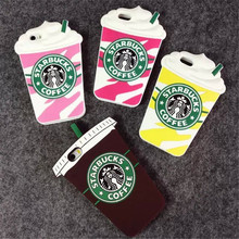 3D Cartoon Silicon Starbuck Coffee Cup Case Cover Samsung Galaxy S3 S4 S5 S6 G530H 9200 Mobile Phones - shenzhenHY Technology Co. Ltd. store