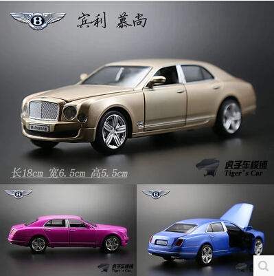 Bentley Mulsanne 1:32 Simulation alloy car model Flashing Pull back kids toys Luxury cars Champagne Gold brain game<br><br>Aliexpress