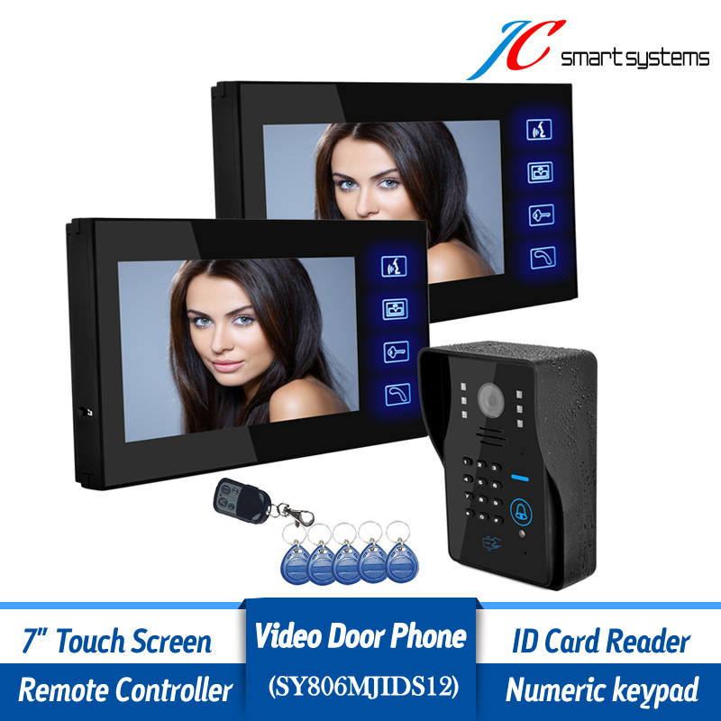 Home Secure 7 Monitor Wired Doorbell Camera Intercom Outdoor System With 2 Indoor Monitors For Door Access Control<br><br>Aliexpress