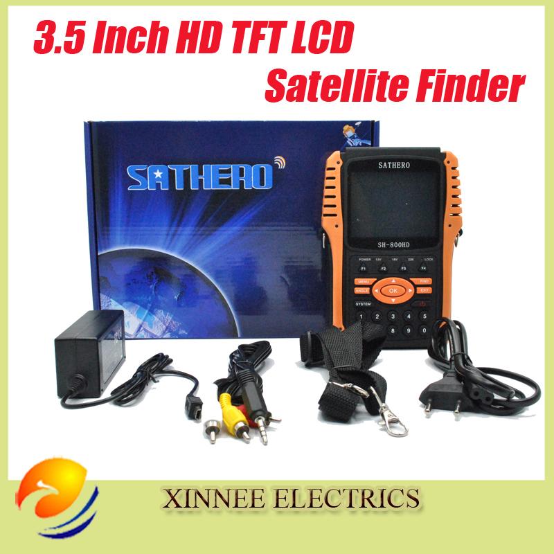 Sathero SH-800 Satellite Receiver Dvb-s2 Digital Satellite Finder Meter Usb2.0 Hdmi Output Satfinder Hd with Spectrum Analyzer(China (Mainland))