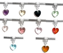 Buy DoreenBeads 10 Mixed Heart Crystal Glass Faceted slide pendants Fit European Charm 24x10mm, B06911, yiwu for $1.49 in AliExpress store