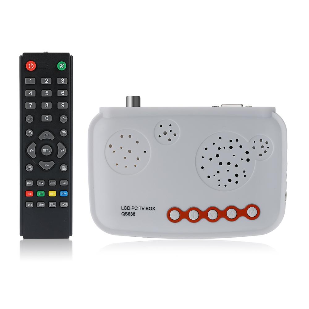 HDTV LCD TV Box / HD Analog TV Tuner Box / CRT Monitor Digital Computer TV Program Receiver(China (Mainland))